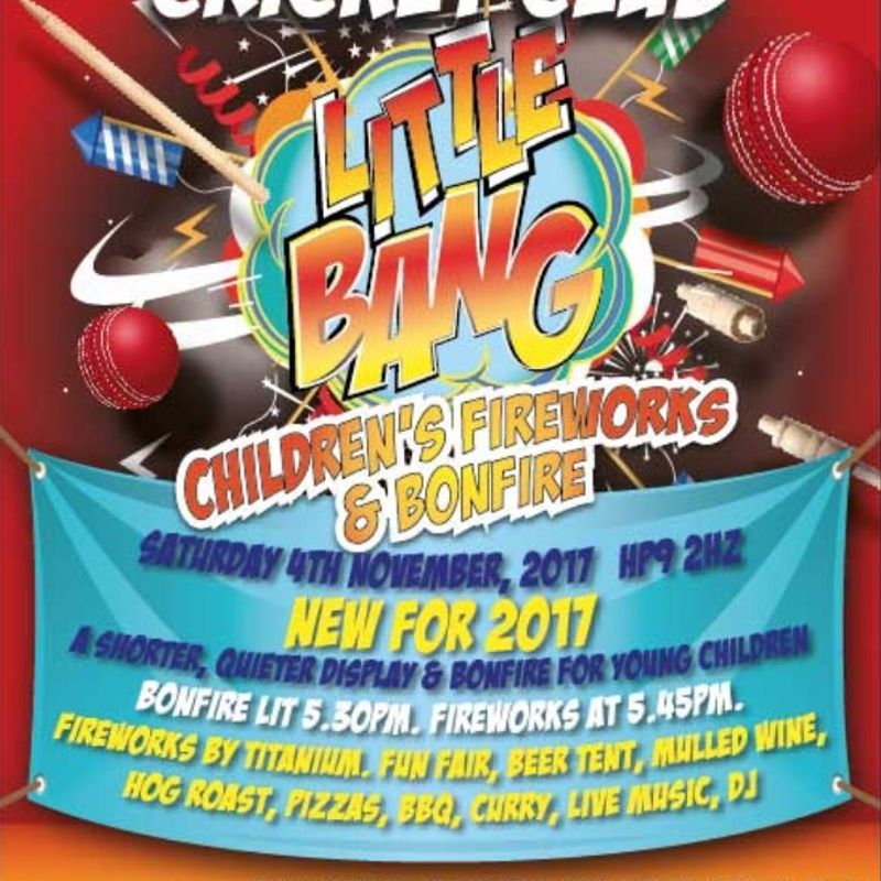 Beaconsfield CC Fireworks & Bonfire 2017 - Little Bang and Big Bang!