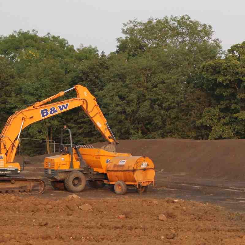 Yarnbury new Pitch work underway 12/7/18