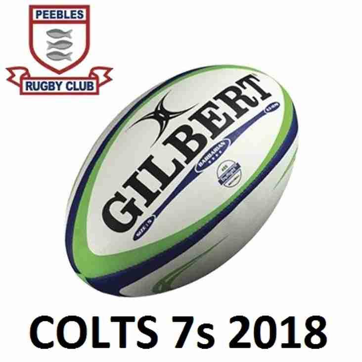Updated: Peebles RFC Colts 2018