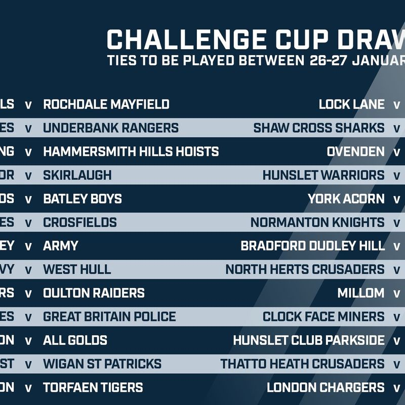 Challenge Cup Date Confirmed + Supporters Coach Travel