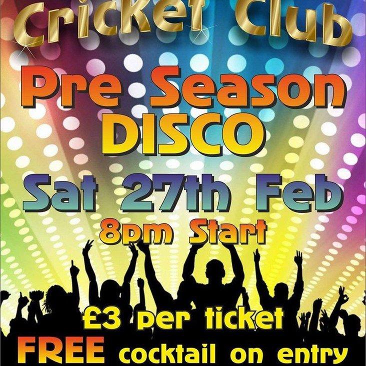 Pre-Season Disco - 27th Feb<