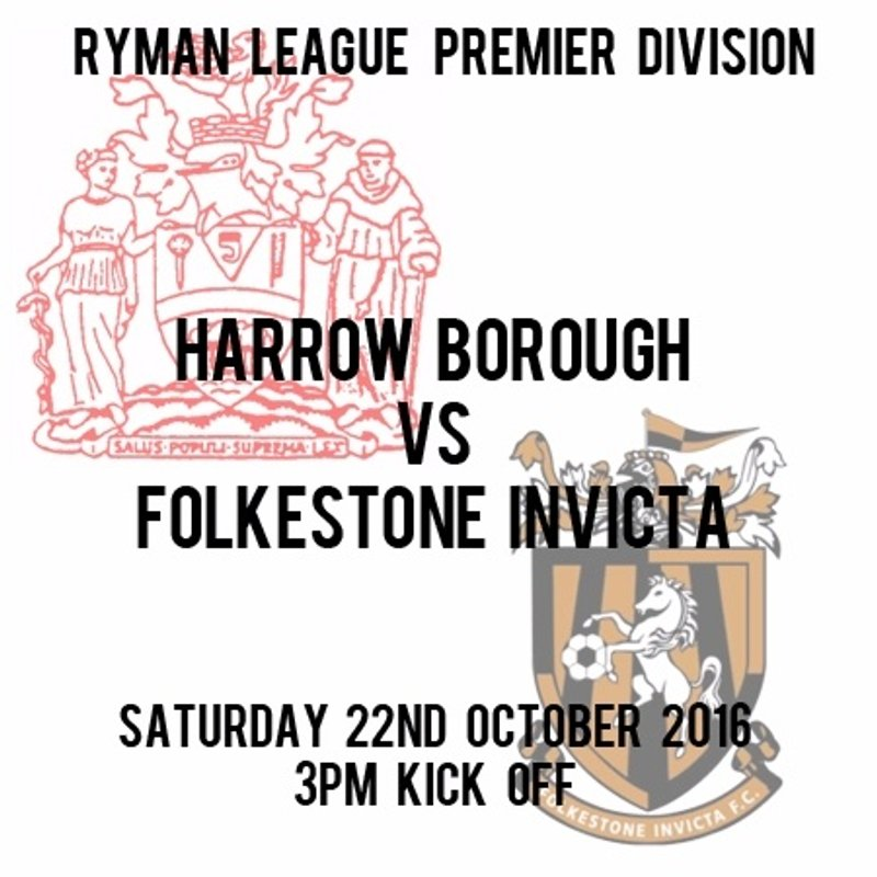 HARROW BOROUGH 4  FOLKESTONE INVICTA 1