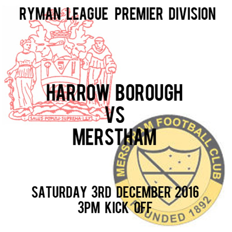 HARROW BOROUGH 1  MERSTHAM 0