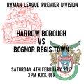 HARROW BORO 0 BOGNOR REGIS TOWN 1