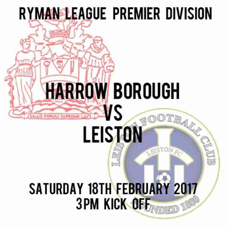 Next Home Match,  Saturday  v Leiston