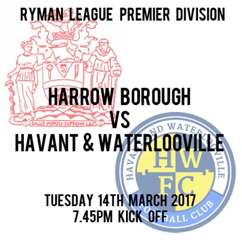 HARROW BOROUGH 2   HAVANT & WATERLOOVILLE 1