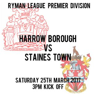 HARROW BOROUGH  0   STAINES TOWN  0