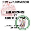 HARROW BOROUGH 0   BURGESS HILL TOWN 2
