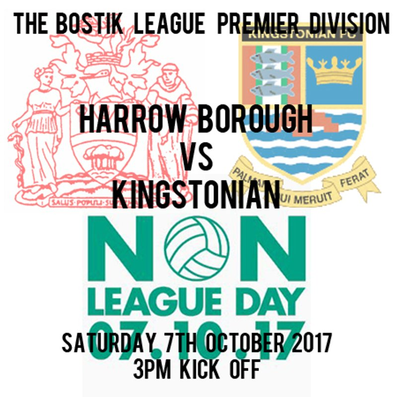 HARROW BOROUGH 2   KINGSTONIAN 0
