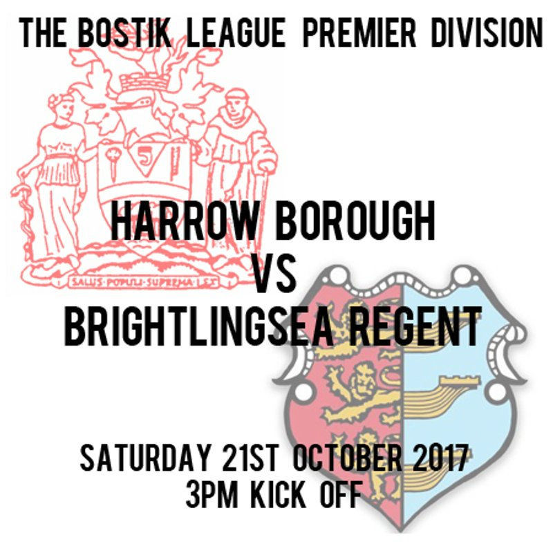 HARROW BORO  1   BRIGHTLINGSEA REGENT  2