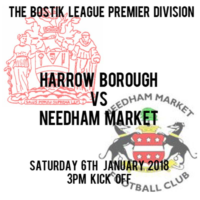 HARROW BOROUGH 3  NEEDHAM MARKET 2