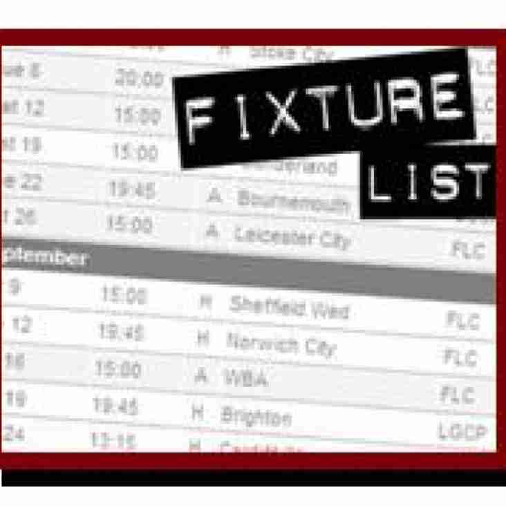 No Game Today But Fixture Changes Confirmed