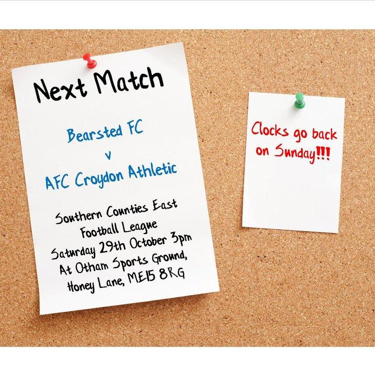 Match Preview - League Matchday 13 at Bearsted<