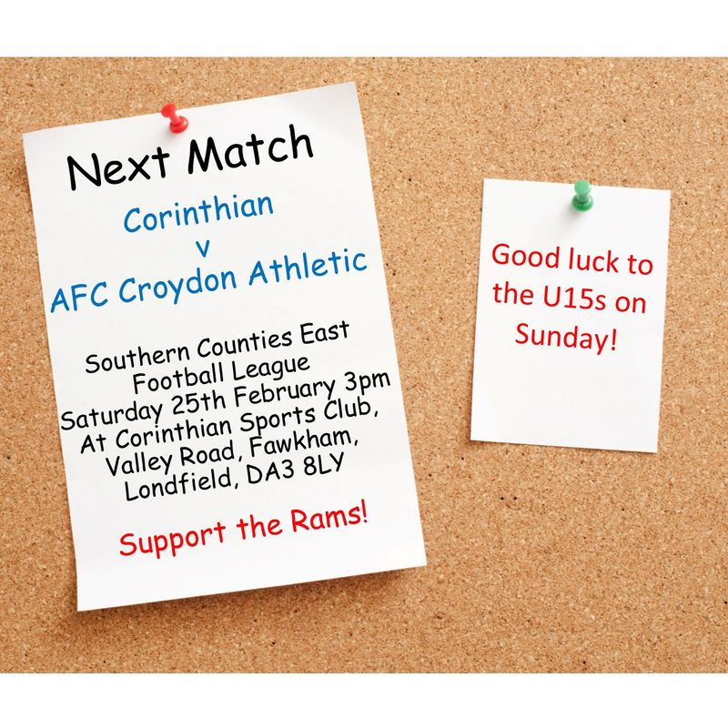 Match Preview - League Matchday 28 at Corinthian