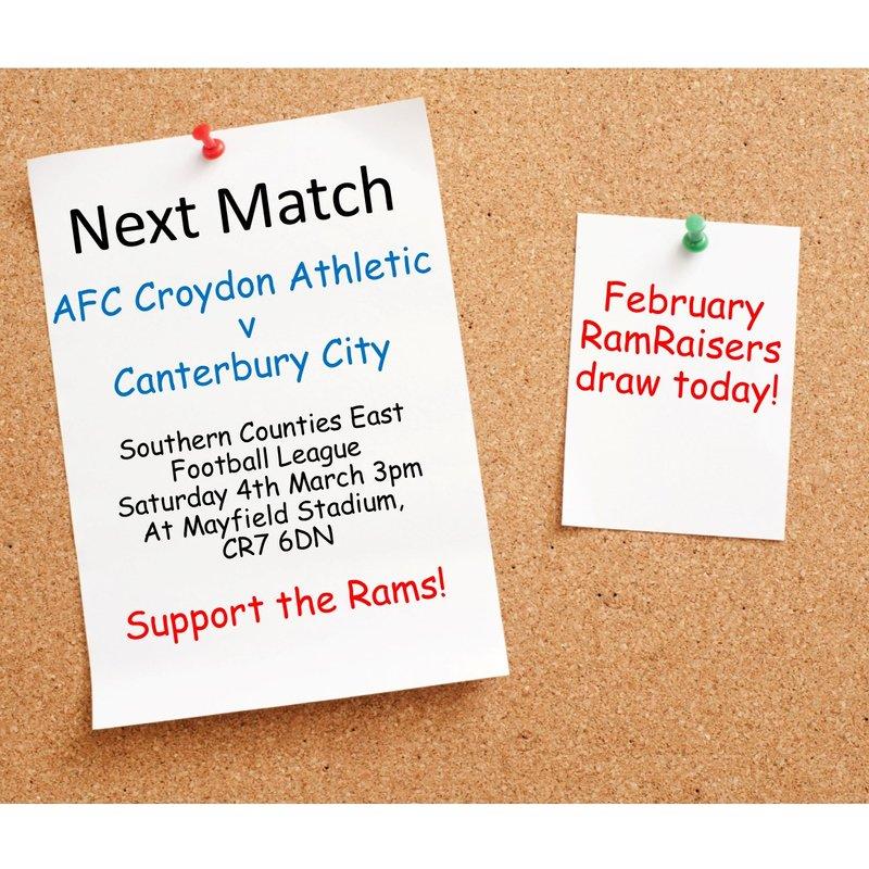 Match Preview - League Matchday 29 v Canterbury City