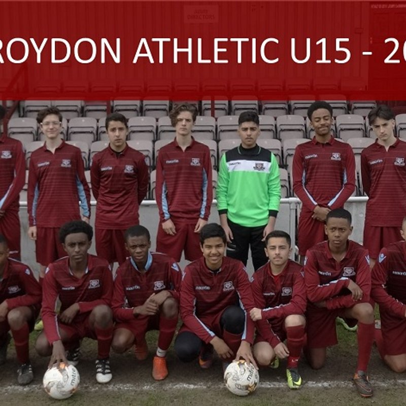 Cup Final Countdown for Under 15s