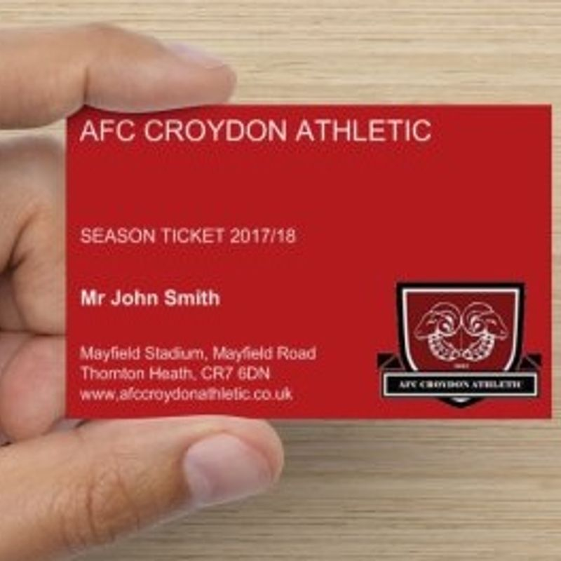 Season Tickets for 2017/18 Now On Sale