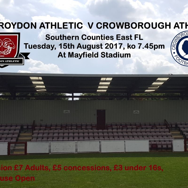 Preview - League v Crowborough Athletic