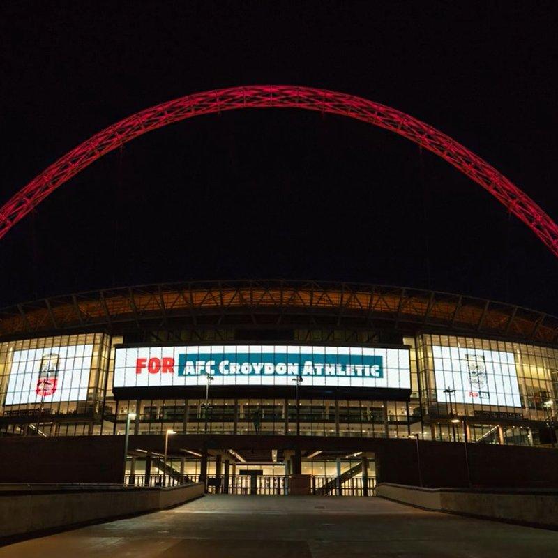 Wembley Stadium Lights Up for AFC Croydon Athletic