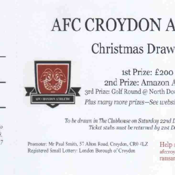 Christmas Raffle Tickets On Sale