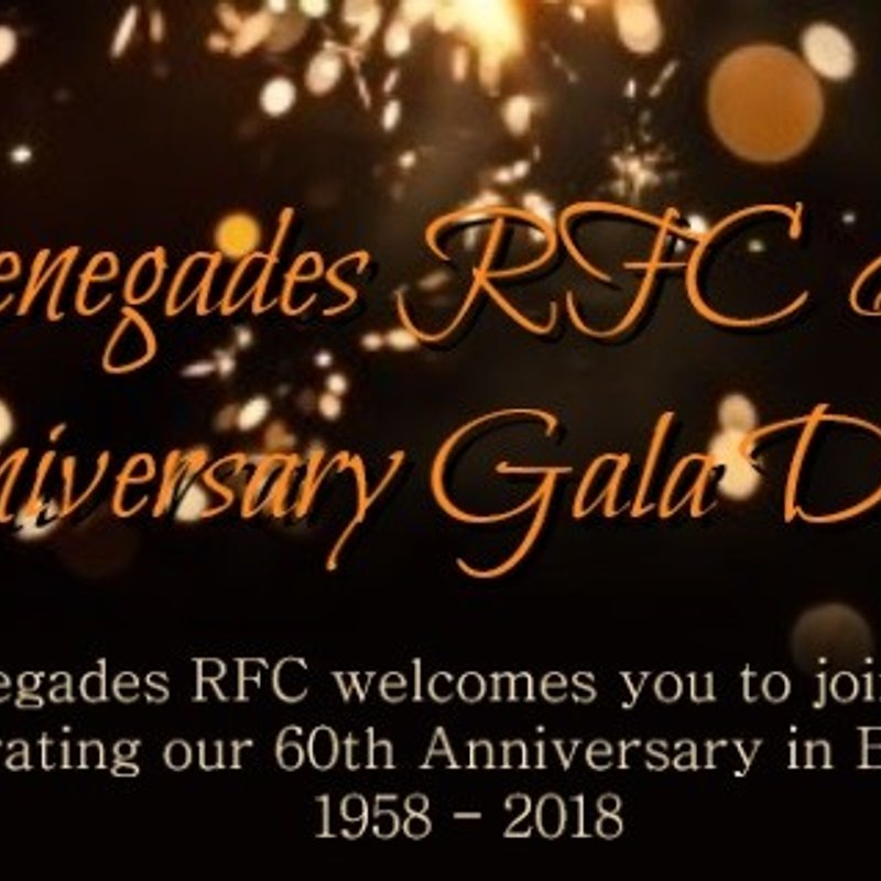 Old Boys - Renegades 60th Anniversary Dinner