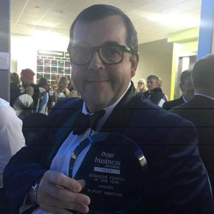Businessman of the year Award winner<