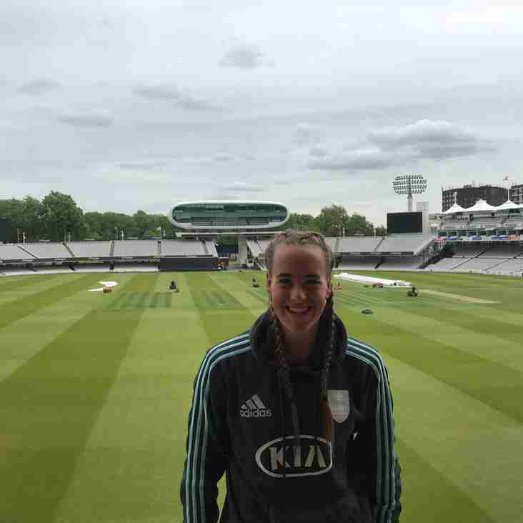 Laura plays at Lords