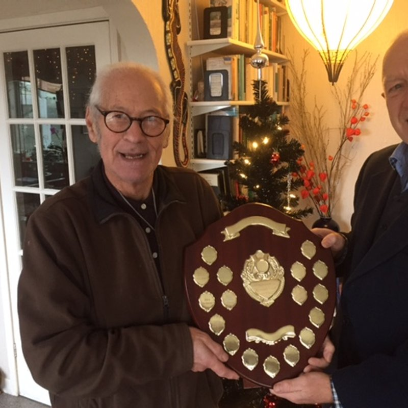 Stan Spiegel Receives the Captain's Trophy