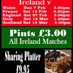 6 Nations starts this week-end - Drinks Promotions at the Club