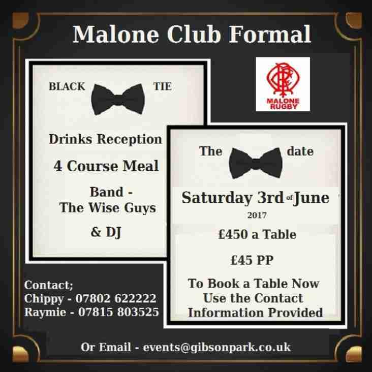 Malone Club Formal