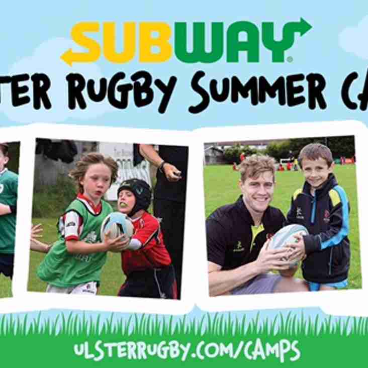 The 2017 Subway Ulster Rugby Summer Camp programme is just around the corner.