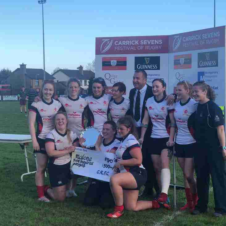Malone Ladies - Win the Carrick 7's Ladies Tournament 2018
