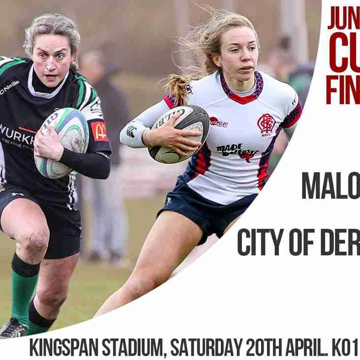 Malone Ladies 2 in Junior Cup Final