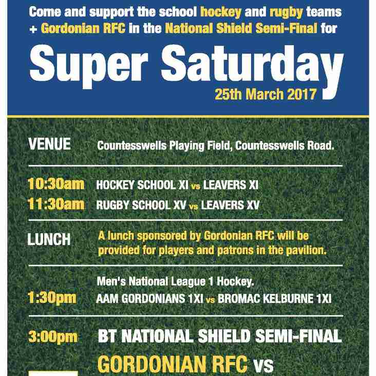 Super Saturday - National BT Shield Semi-Final this weekend!