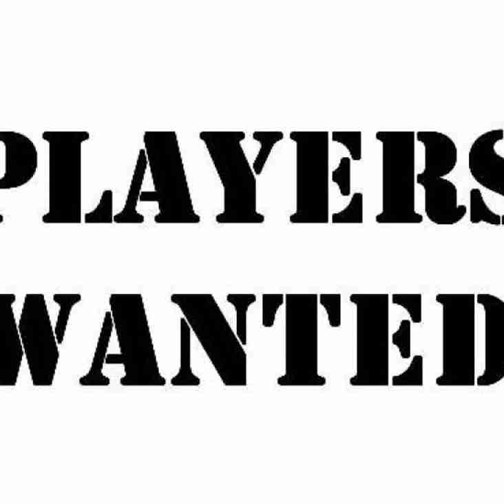 Players wanted for u17 (1998) Season 2014/15