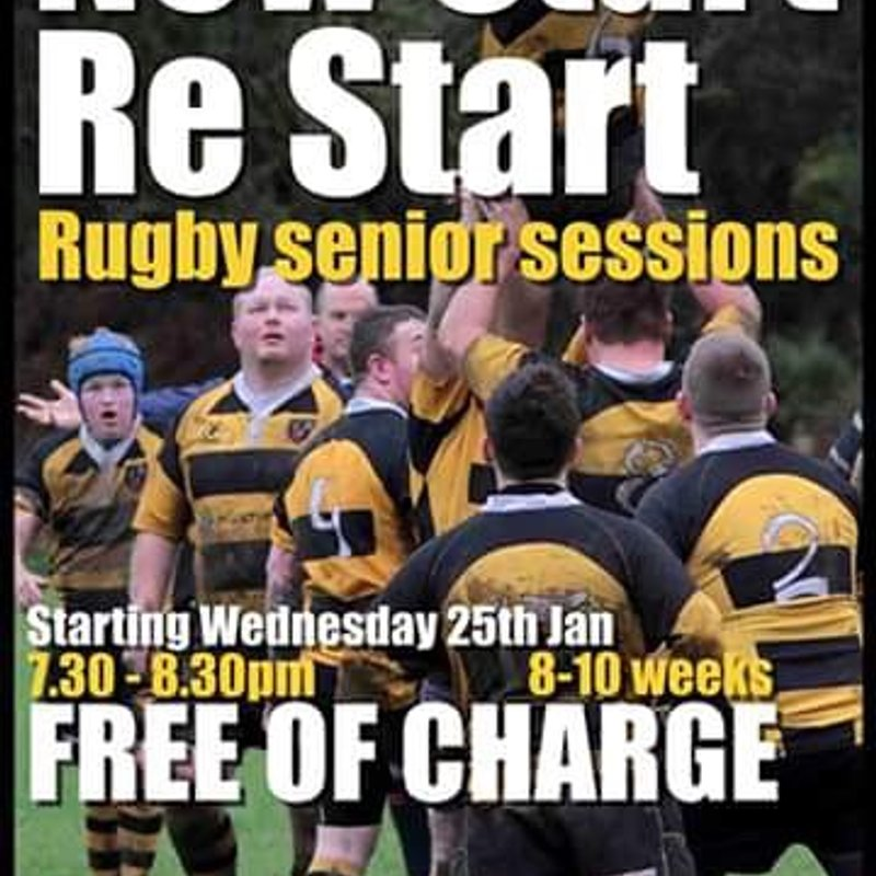 Senior returners or new starters rugby training