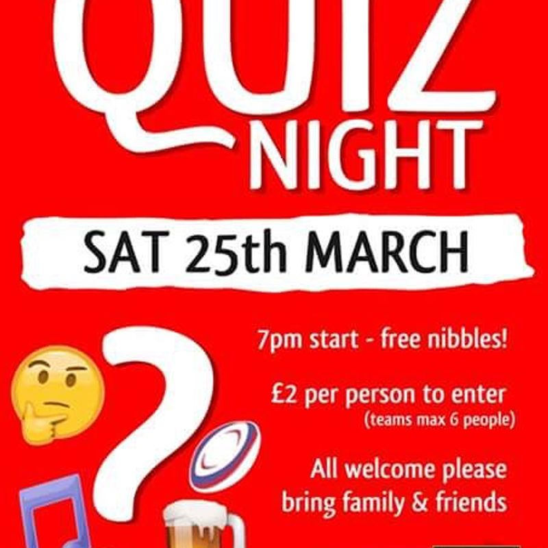 Quiz night 25th March