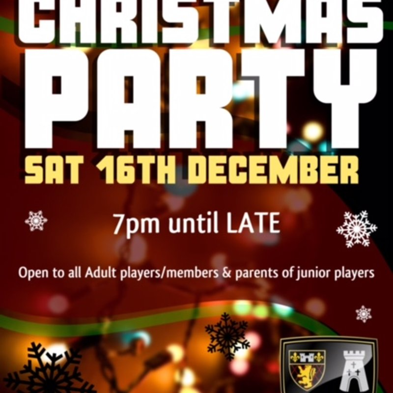 16th December Christmans lunch and Seniors Party