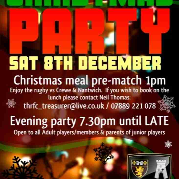 Christmas Pre Match Meal and Christmas Party