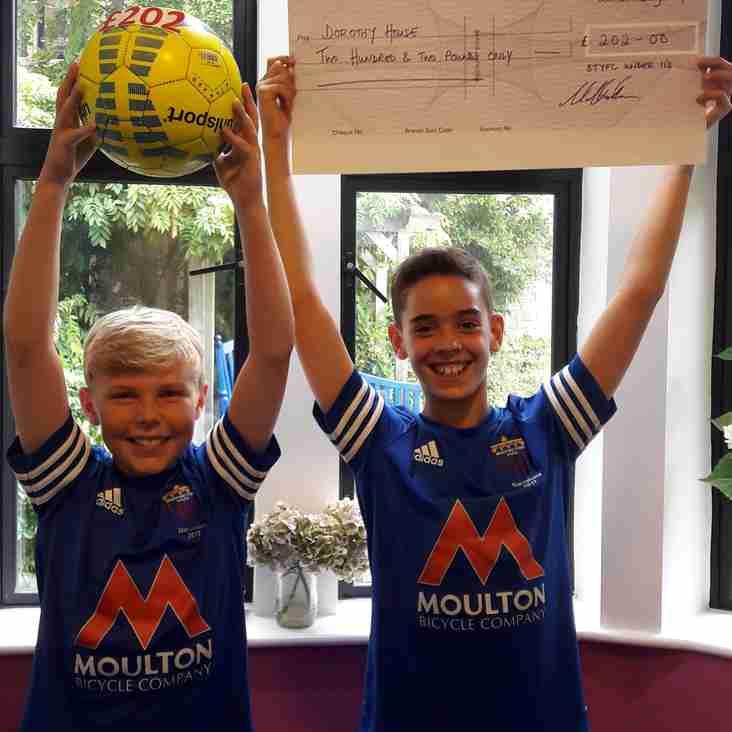 BTYFC U11s Raise Money for Dorothy House