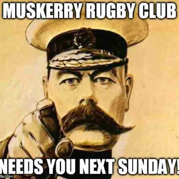 Call to Arms: Muskerry v Skibbereen Sunday 12th March