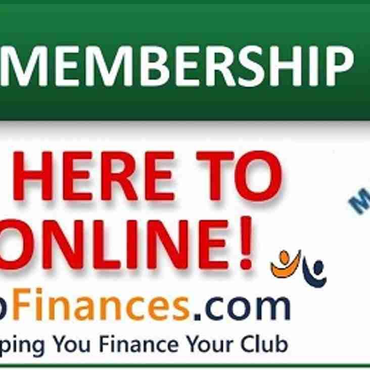 Memberships now due!!