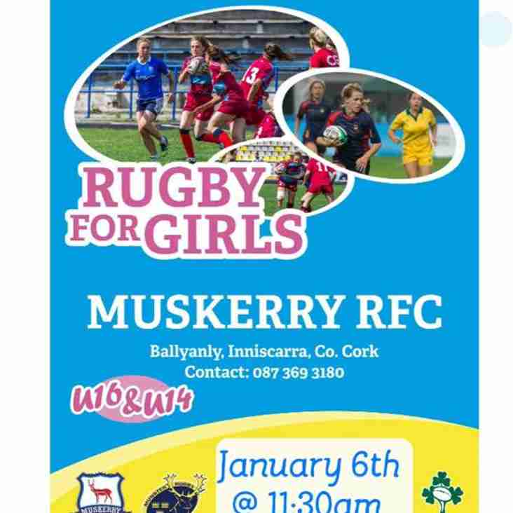 Girls Rugby at Muskerry RFC!
