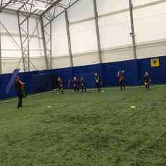 Latchford training in Wolves Training Barn