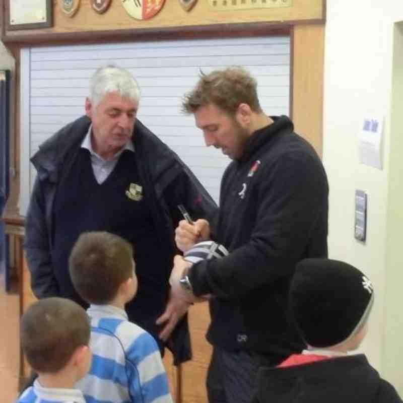 Chris Robshaw Visits WRFC, February 2012