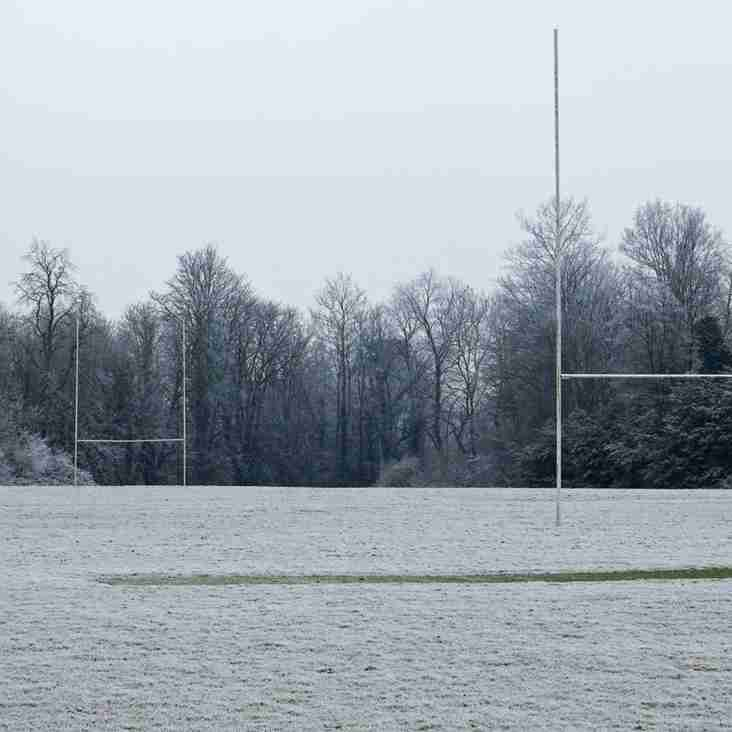 Minis and Juniors Training Cancelled