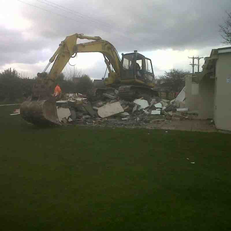 Demolition of old changing rooms