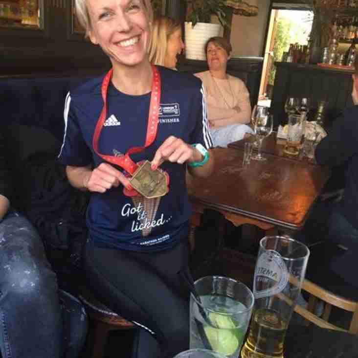 Jenny Baines triumphs at the London Marathon