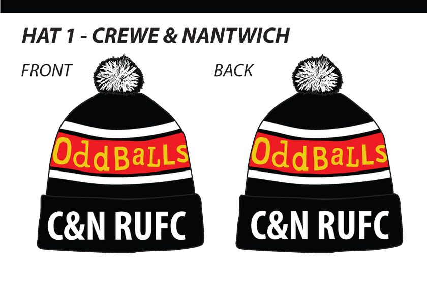 Get your Crewe and Nantwich oddballs bobble hats