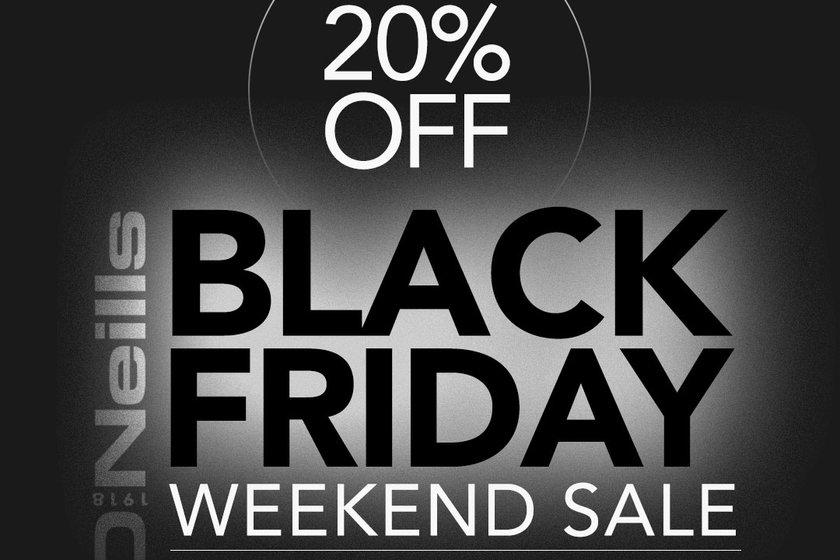 Black Friday O'Neills club shop sales - 20% off everything